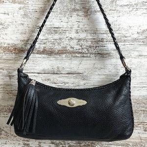 🔴Elliott Lucca Black Leather Tassel Shoulder Bag